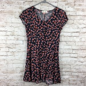 Band of Gypsies Floral Button Down Sun Dress